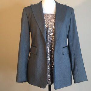 Express Womens NEW Leather Gray Blazer Jacket 5/6